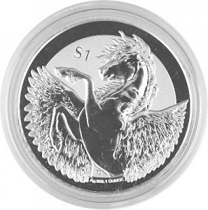 Pegasus - Reverse Frosted 1oz Silver - 2018