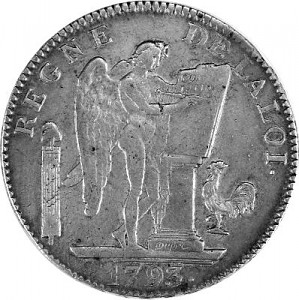 Six Livres France 27g Silver (1792 - 1795)