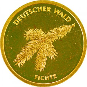 20 Euro Gold German Forest Spruce 3,88g Gold - 2012
