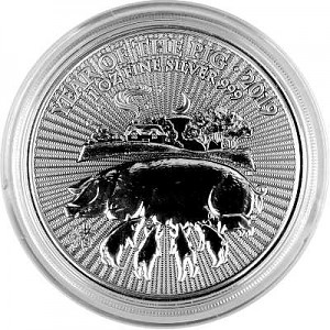 Lunar UK Year of the Pig 1oz Silver - 2019