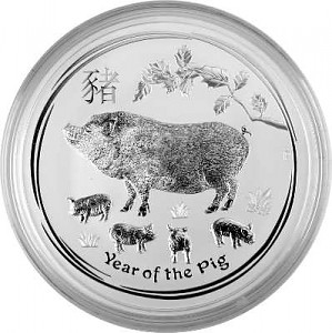 Lunar II Year of the Pig 1kg Silver - 2019