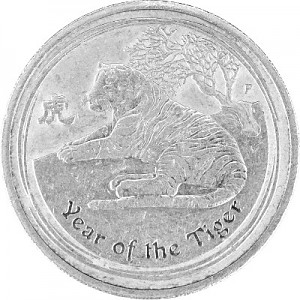 Lunar II Year of the Tiger 1/2oz Silver - 2010 B-Stock