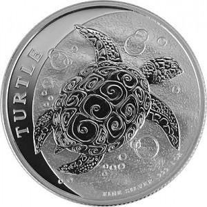 Niue Hawksbill Turtle 1oz Silver - 2019