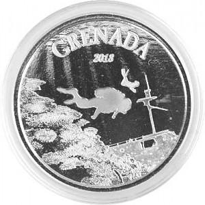 Grenada – Diving Paradise 1oz Silver - 2018