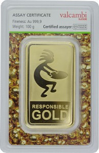 Gold Bar 100g - Auropelli Responsible-Gold