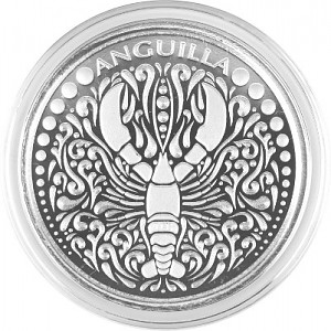 Anguilla Lobster 1oz Silver - 2018