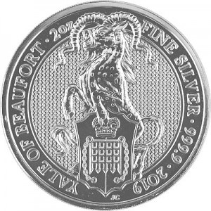 Queens Beasts Yale 2oz Silver - 2019