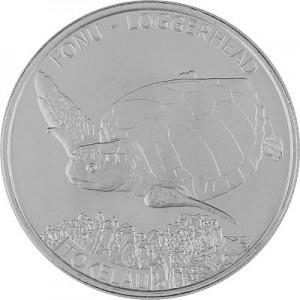 Tokelau loggerhead turtle 1oz Silver - 2019