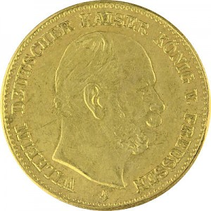 5 Mark Wilhelm I Emperor Wilhelm I of Prussia 1,79g Gold 1887 Embossing