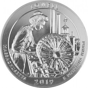 America the Beautiful - Lowell National Historical Park 5oz Silver - 2019