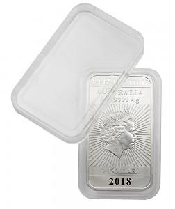 Coin Capsules 27x47mm, Rectangular Dragon Australia Coin Bars, 1 Piece