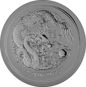 Lunar II Year of the Dragon 10oz Silver - 2012