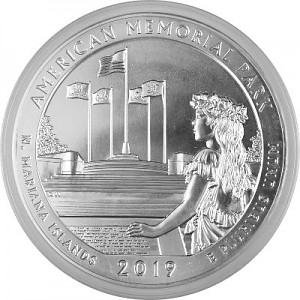 America the Beautiful - Northern Mariana Islands American Memorial Park 5oz Silver - 2019