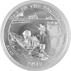 America the Beautiful - Guam War in the Pacific 5oz Silver - 2019