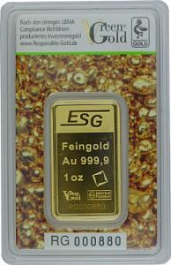 Gold Bar 1oz - Auropelli Responsible-Gold