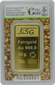 Gold Bar 50g - Auropelli Responsible-Gold