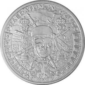 """Pieces of Eight"" Silver Round 1oz Silver BU"