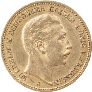 20 Mark Emperor Wilhelm II of Prussia 7,16g Gold