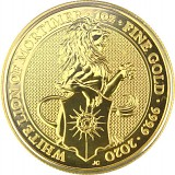 Queens Beasts White Lion 1oz Gold - 2020