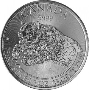 Canadian Predator Series - Grizzly - 1oz Silver - 2019