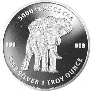 Republic of Chad Mandala Elephant 1oz Silver - 2019