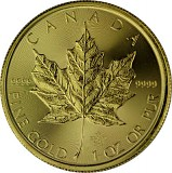 Canadian Maple Leaf 1oz Gold - 2020