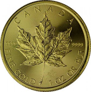 Canadian Maple Leaf 1oz Gold - 2020