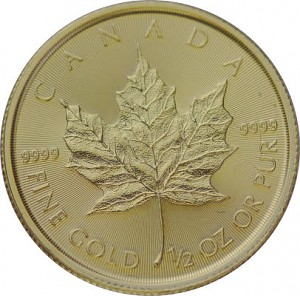 Canadian Maple Leaf 1/2oz Gold - 2020
