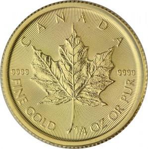 Canadian Maple Leaf 1/4oz Gold - 2020
