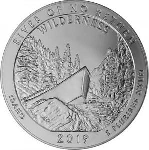 America the Beautiful - Idaho Frank Church River 5oz Silver - 2019