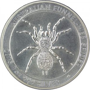 Australian Funnel Web Spider 1oz Silver - 2015 B-Stock