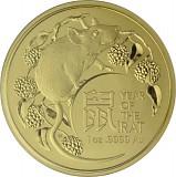 Lunar Year of the Rat Royal Australien Mint 1oz Gold - 2020
