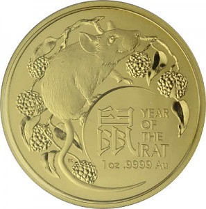 Lunar Year of the Rat Royal Australien Mint 1oz Gold - 2020