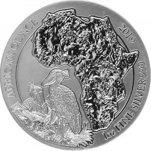 Rwanda Shoebill 1oz Silver - 2019