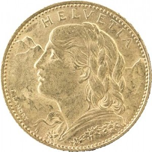 10 Swiss Francs Vreneli 2,9g Gold