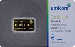 Gold Bar 2,5g - Umicore