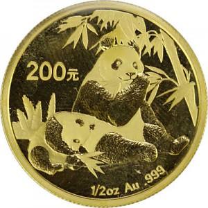 Chinese Panda 1/2oz Gold - 2007