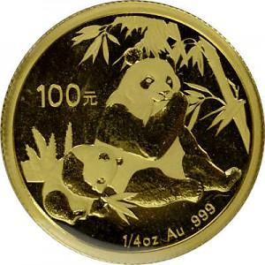 Chinese Panda 1/4oz Gold - 2007