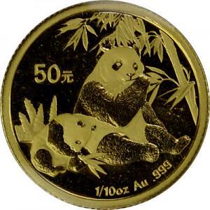 Chinese Panda 1/10oz Gold - 2007