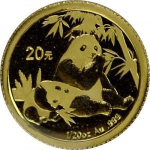 Chinese Panda 1/20oz Gold - 2007