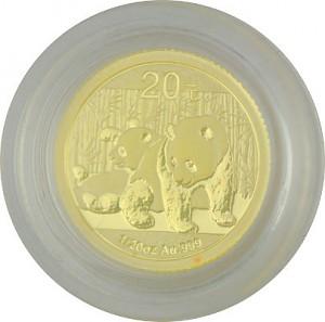 Chinese Panda 1/20oz Gold - 2010 B-Stock