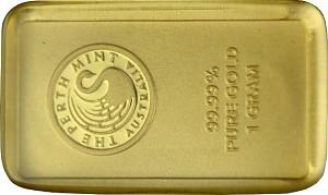 Gold Bar 1g - Perth Mint Kangaroo