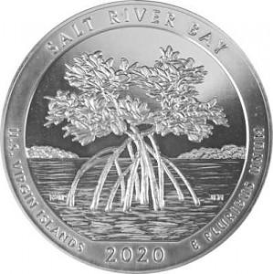 America the Beautiful - Virgin Islands Salt River Bay 5oz Silver - 2020