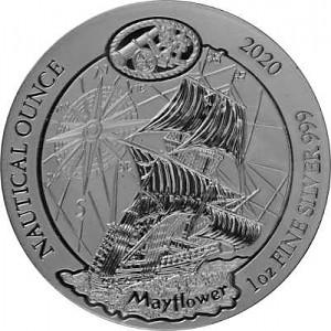 Rwanda Nautical Series - Mayflower 1oz Silver - 2020 (standard taxation)