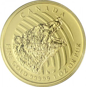 Call of the Wild - Grizzly 1oz Gold - 2016