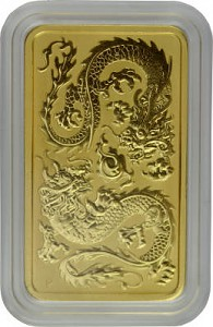 Perth Mint Rectangular Dragon 1oz Gold - 2020
