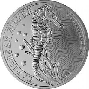 Barbados Seahorse 1oz Silver - 2020
