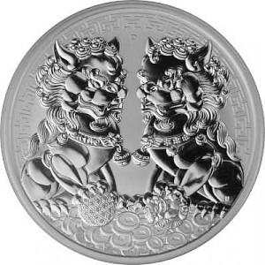 Double Pixiu - Australien 1oz Silver - 2020