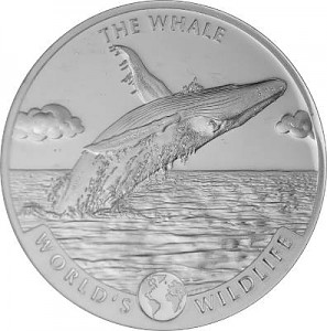 Kongo World's Wildlife - Whale 1oz Silver - 2020