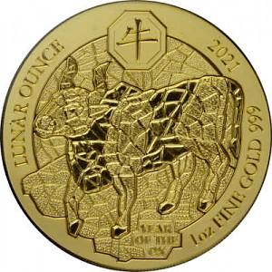 Lunar Rwanda Ox 1oz Gold 2021